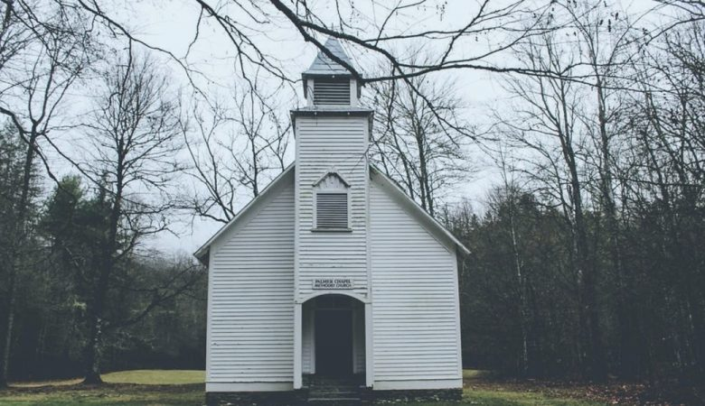 a church in the woods