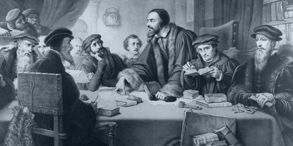 Painting of John Calvin