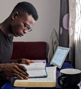 Bible reading, both organic and technological
